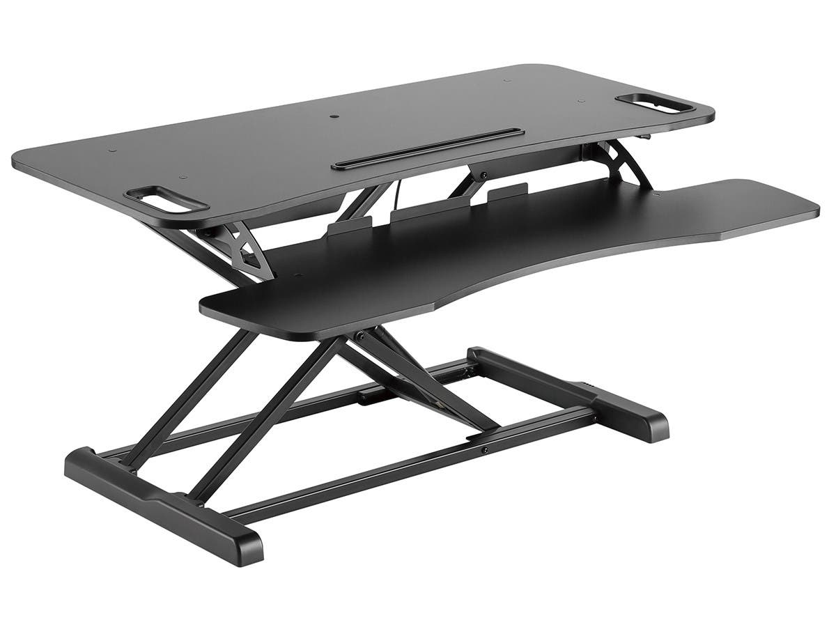 Workstream by Monoprice Sit-Stand Compact Workstation Desk Converter, 37in-Large-Image-1