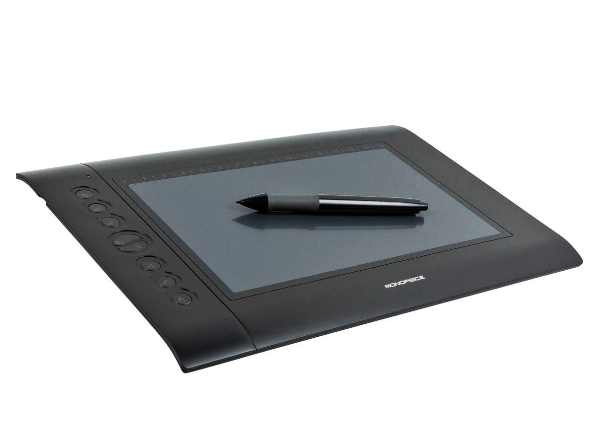 Monoprice 10 x 6.25-inch Graphic Drawing Tablet (4000 LPI 200 RPS 2048 Levels) (Open Box)-Large-Image-1
