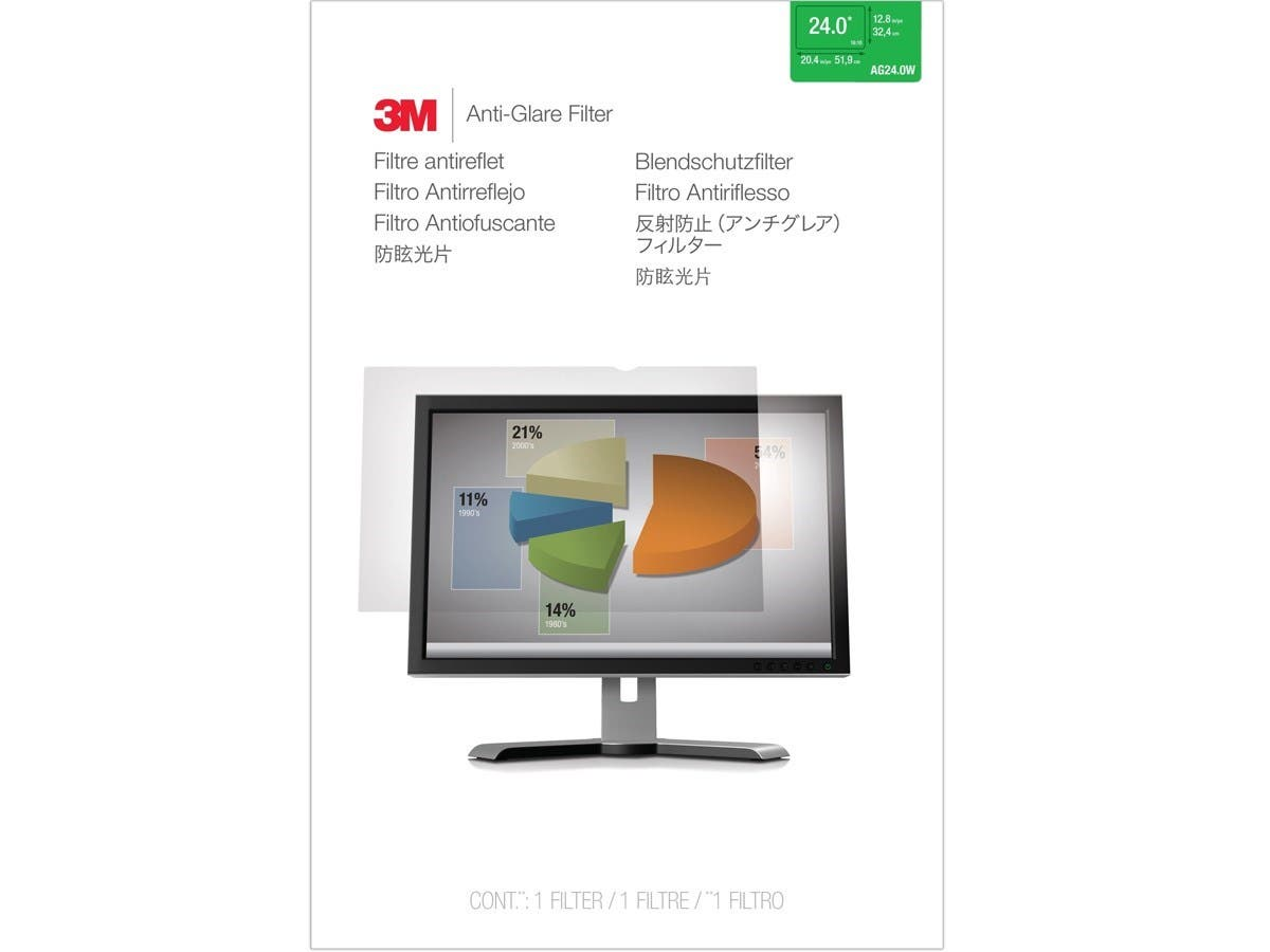 "3M AG 24.0W Anti-Glare Filter - For 24""Monitor (Open Box)"