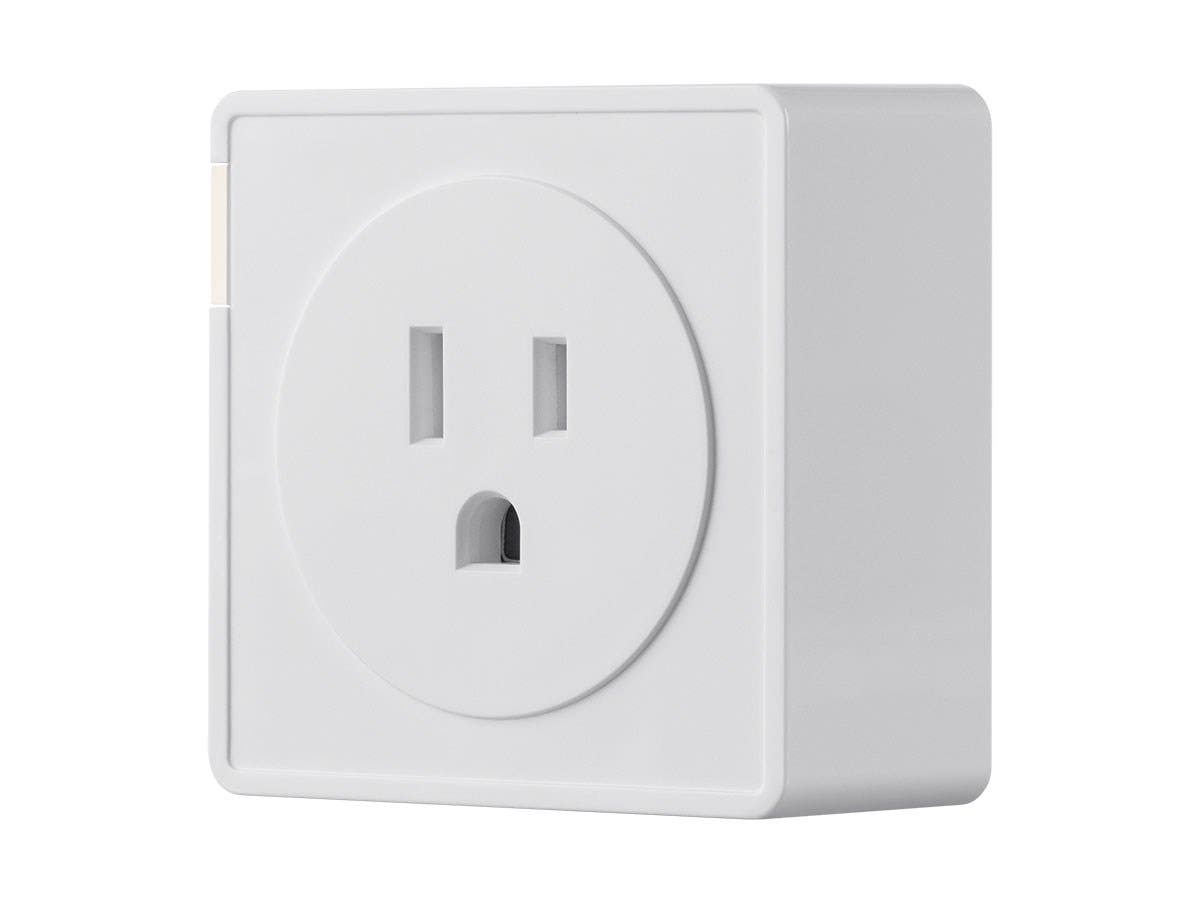 STITCH by Monoprice Wireless Smart Plug with Energy Monitoring & Reporting; Works with Amazon Alexa and Google Assistant, No Hub Required-Large-Image-1