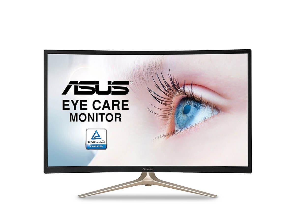 "ASUS Curved 31.5"" Full HD 1080P HDMI VGA Eye Care Monitor 31.5-Inch Screen LED-lit Monitor (VA327H) -Large-Image-1"