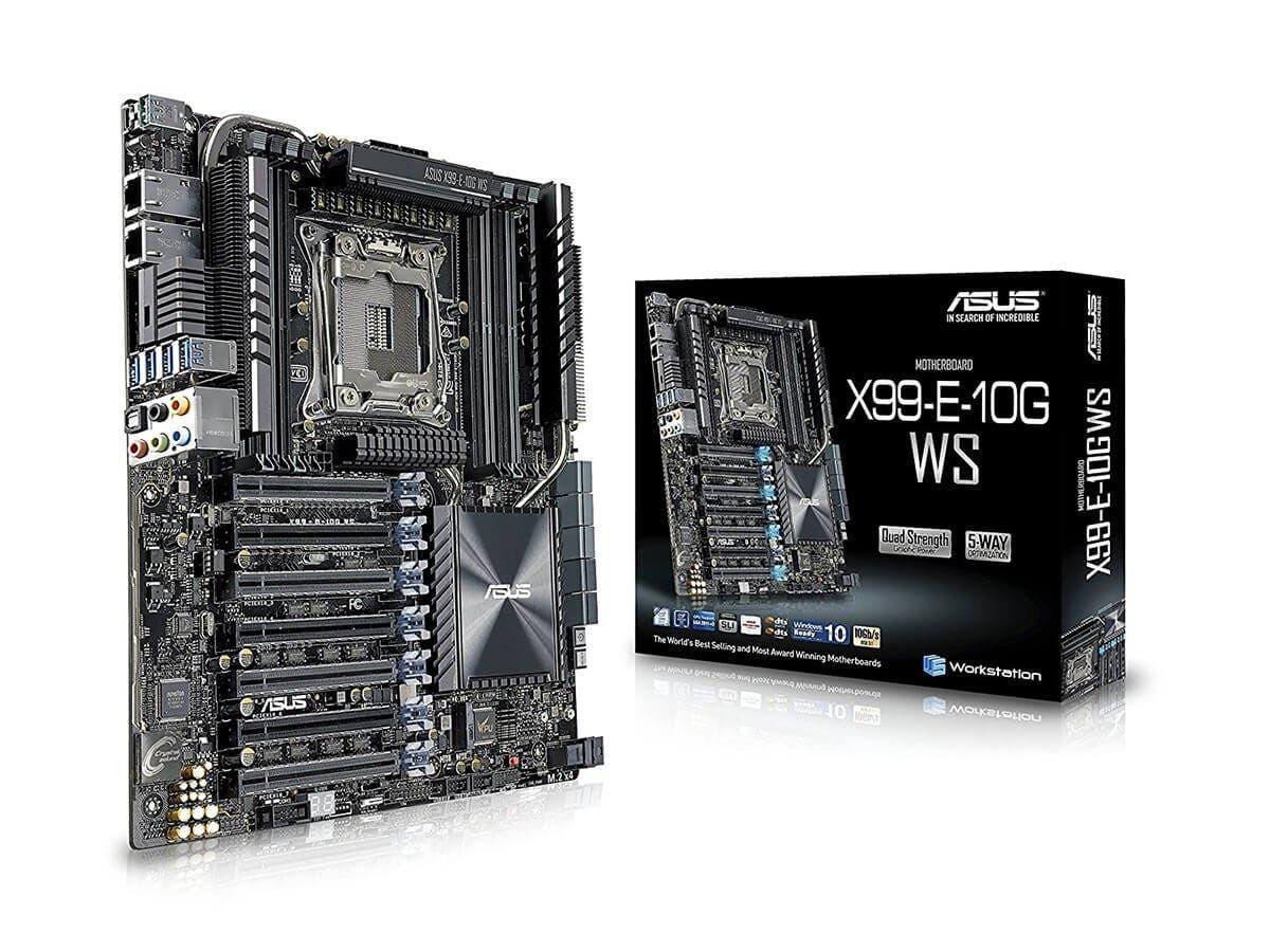 ASUS X99-E-10G WS LGA 2011-v3 Intel X99 SATA 6Gb/s USB 3.1 CEB Intel Motherboard-Large-Image-1