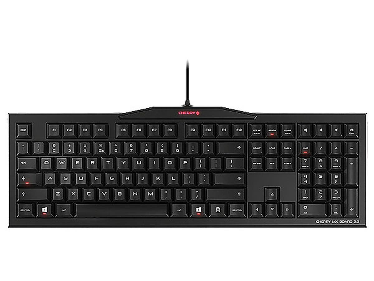 CHERRY MX Board 3.0 Keyboard - MX Brown Switch - USB - Laser Inscribed Keys - G80-3850LXDEU-2-Large-Image-1