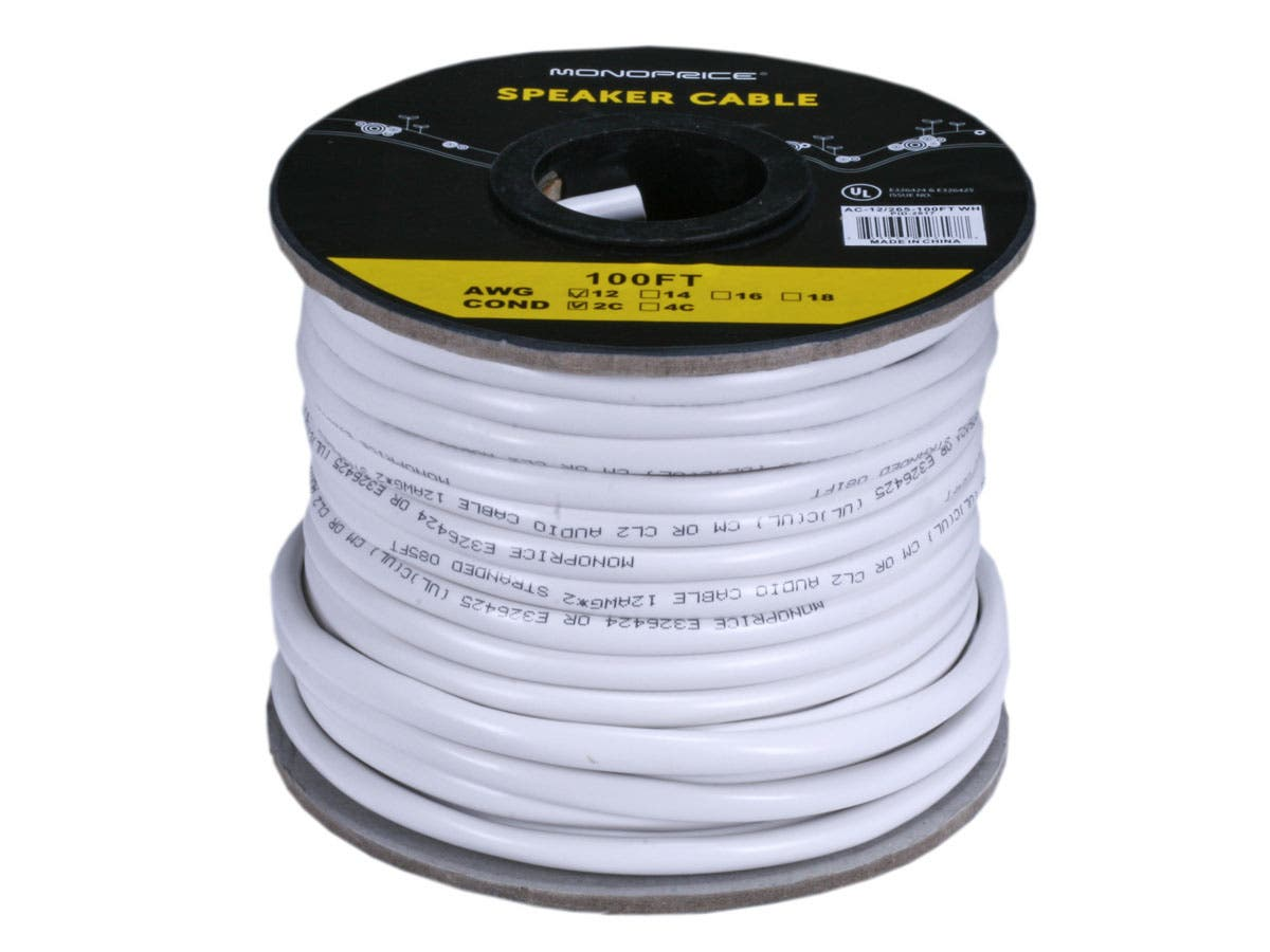 Monoprice Access Series 12awg Cl2 Rated 2 Conductor Speaker Wire Smart Wiring 100ft Small