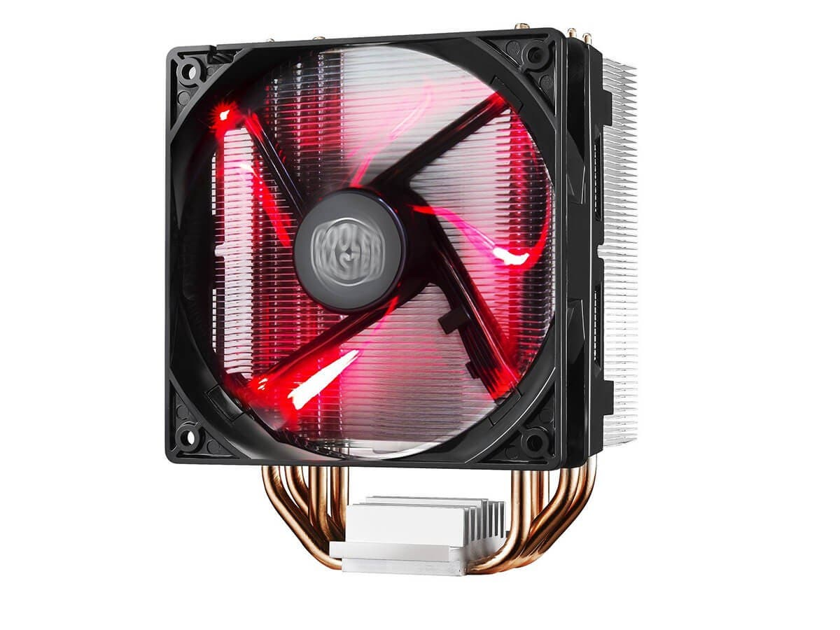 Cooler Master Hyper 212 LED CPU Cooler with PWM Fan, Four Direct Contact Heat Pipes, Unique Blade Design and Red LEDs -Large-Image-1