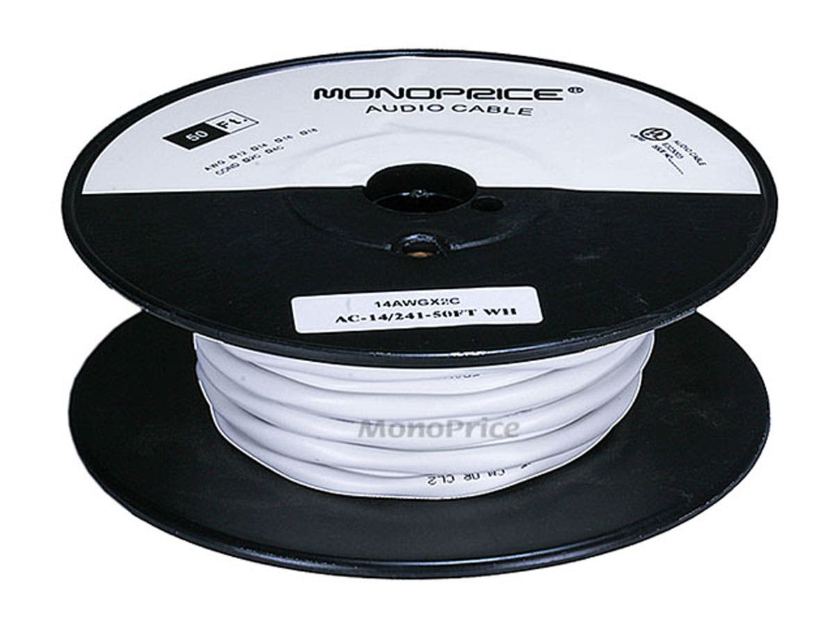 Monoprice Access Series 14AWG CL2 Rated 2-Conductor Speaker Wire,  50ft-Small-