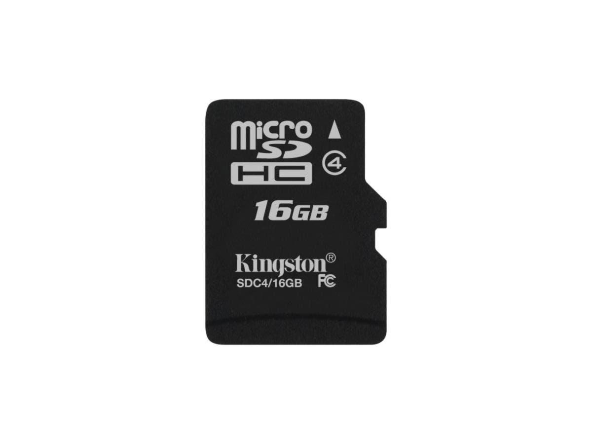 Kingston SDC4/16GBSP 16 GB microSDHC - 1 Card/1 Pack-Large-Image-1