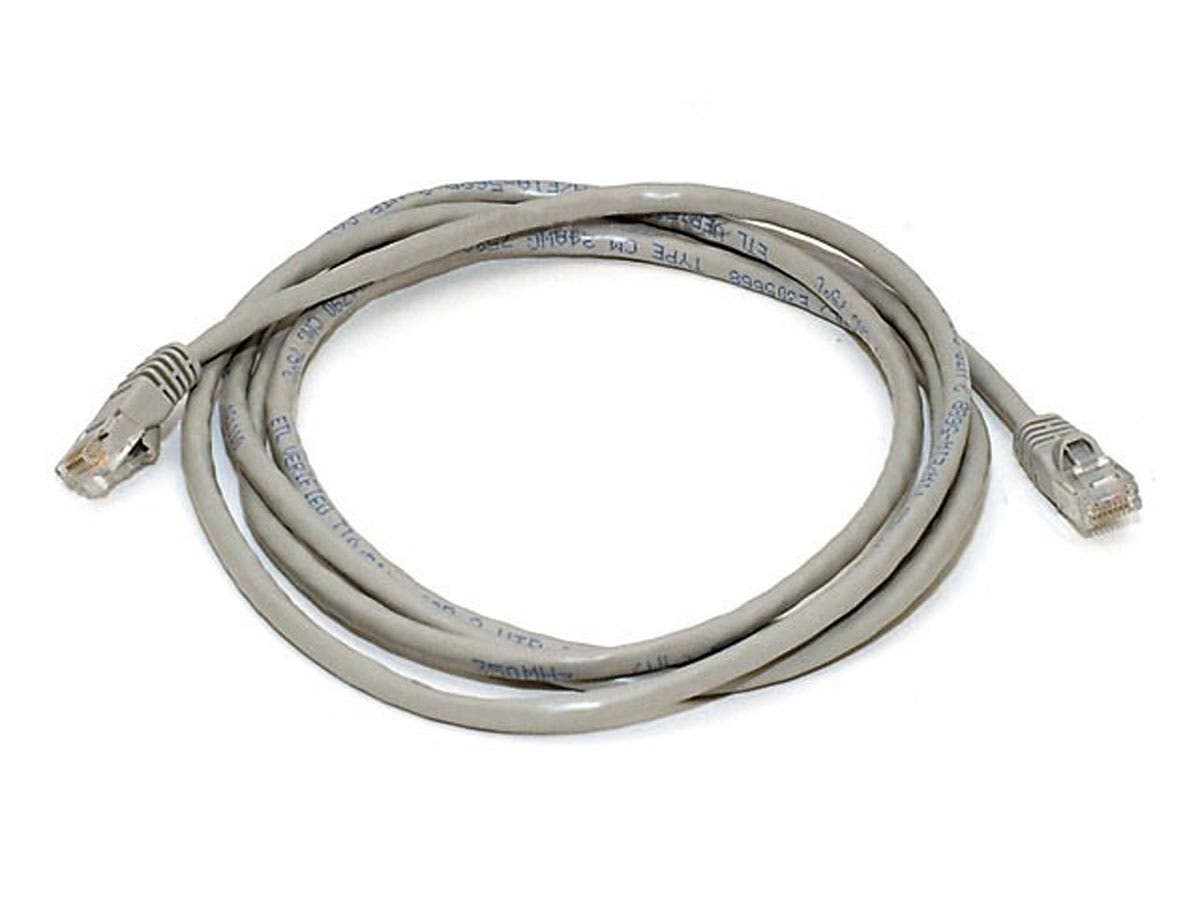 7FT 24AWG Cat5e 350MHz UTP Crossover Bare Copper Ethernet Network Cable - Gray