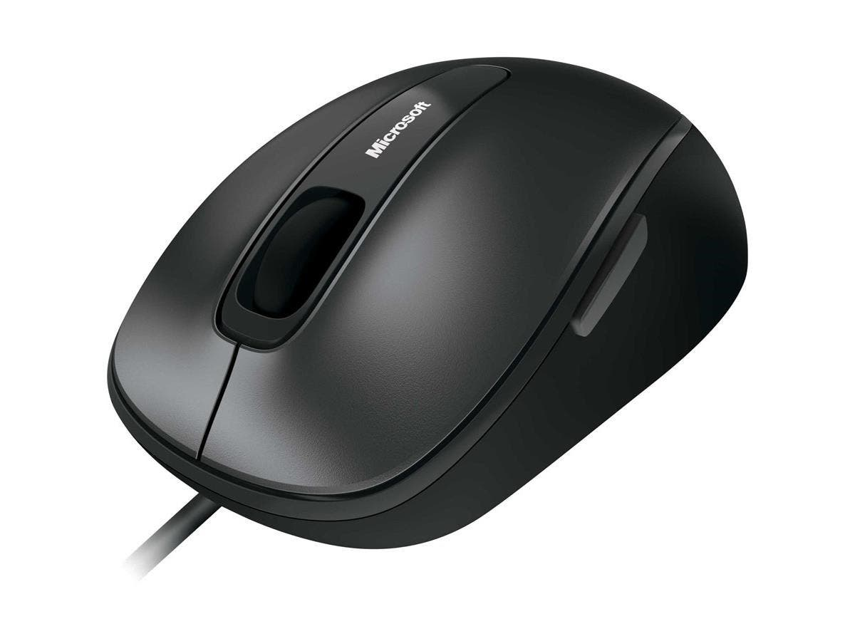 Microsoft 4500 Mouse - BlueTrack - Cable - Black, Anthracite - USB - 1000 dpi - Tilt Wheel - 5 Button(s) - Symmetrical