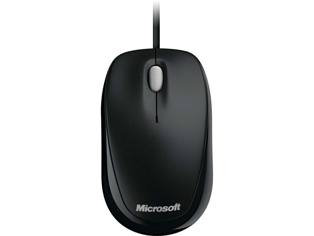 Microsoft 500 Mouse - Optical - Cable - Black - USB - 800 dpi - Scroll Wheel - 3 Button(s) - Symmetrical-Large-Image-1