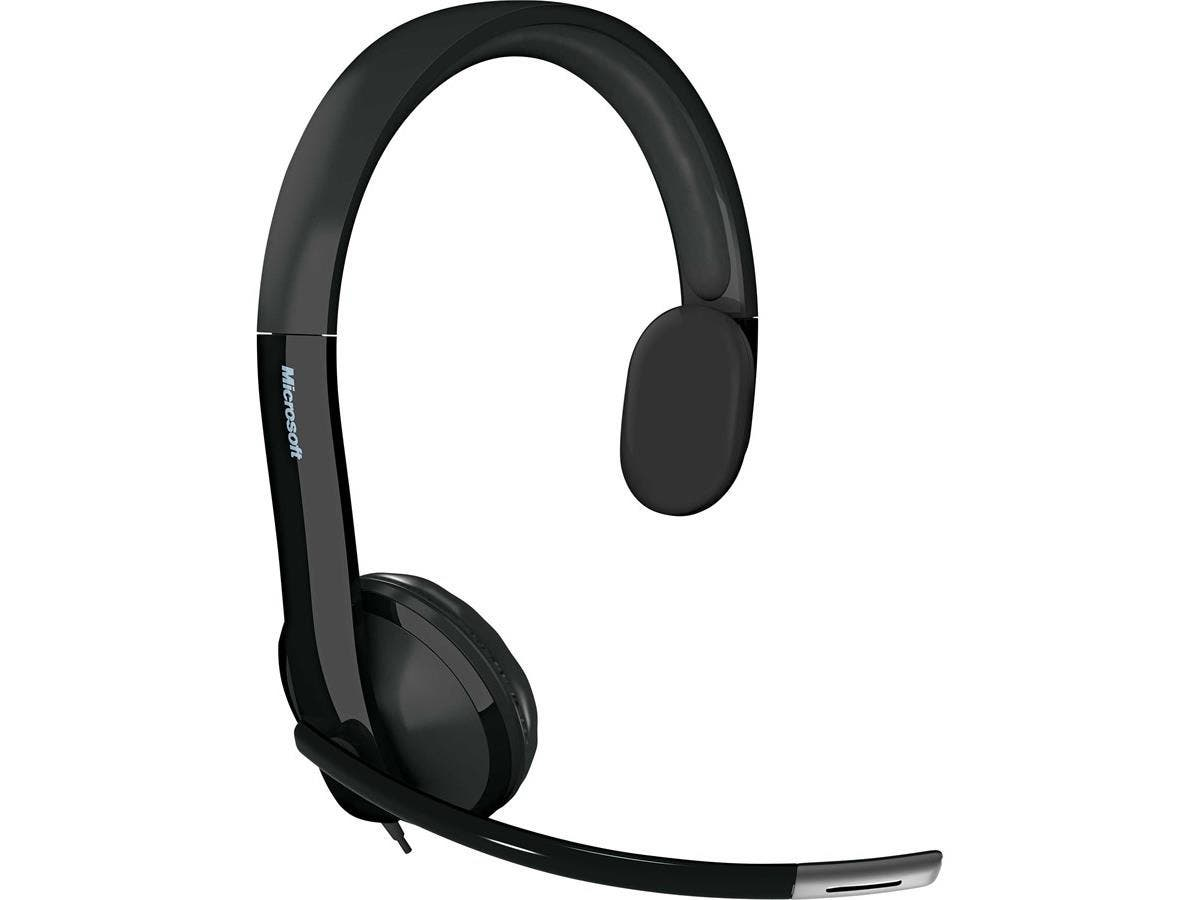 Microsoft LifeChat LX-4000 Headset - Mono - USB - Wired - 32 Ohm - 75 Hz - 20 kHz - Over-the-head - Monaural - Semi-open - 7.13 ft Cable - Noise Cancelling Microphone-Large-Image-1
