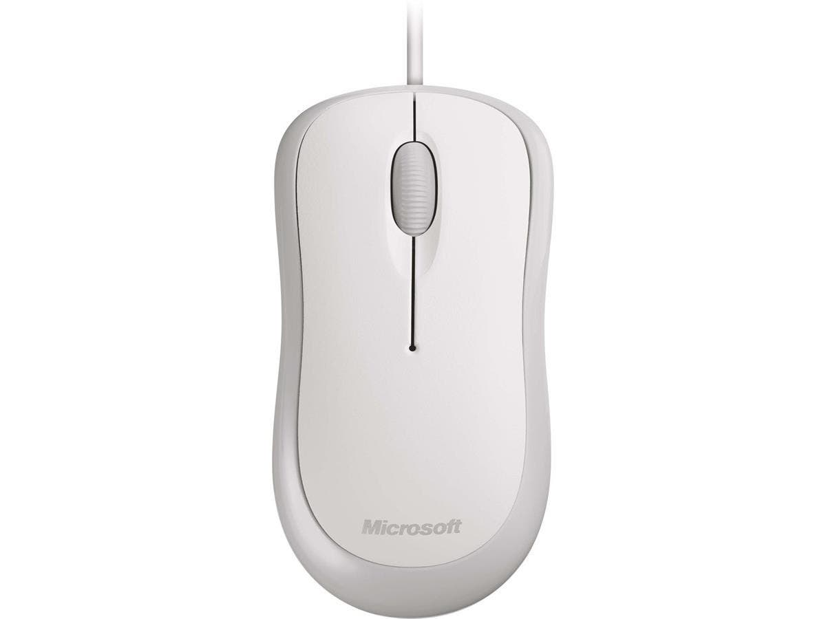 Microsoft Mouse - Optical - Cable - White - USB, PS/2 - 800 dpi - Scroll Wheel - 3 Button(s) - Symmetrical-Large-Image-1