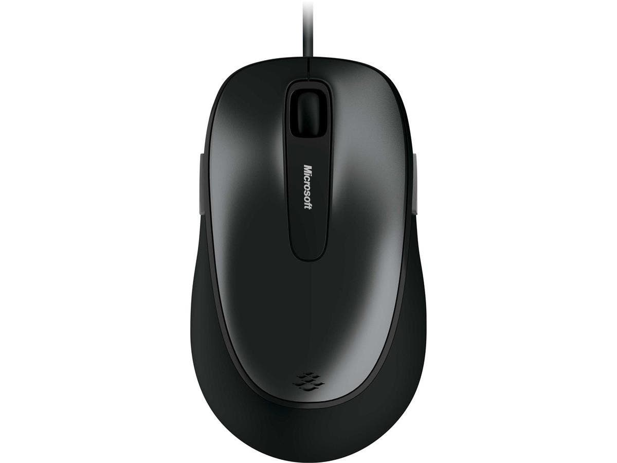 Microsoft Comfort Mouse 4500 - BlueTrack - Cable - USB - 1000 dpi - Computer - Tilt Wheel - 5 Button(s) - Symmetrical-Large-Image-1