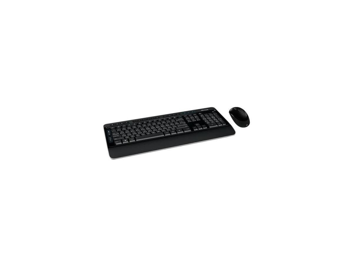 Microsoft Wireless Desktop 3050 - USB Wireless RF English (North America) - USB Wireless RF BlueTrack - 988 dpi - 5 Button - Tilt Wheel - Email, Home, Skype, My Music, Favourites, Play/Pause, Stop, Pr