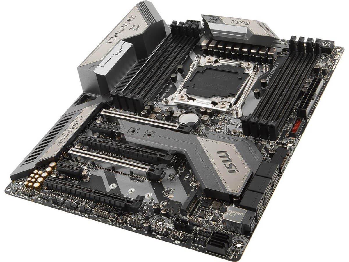 Msi X299 Tomahawk Lga 2066 Intel Sata 6gb S Usb 31 Atx Motherboard