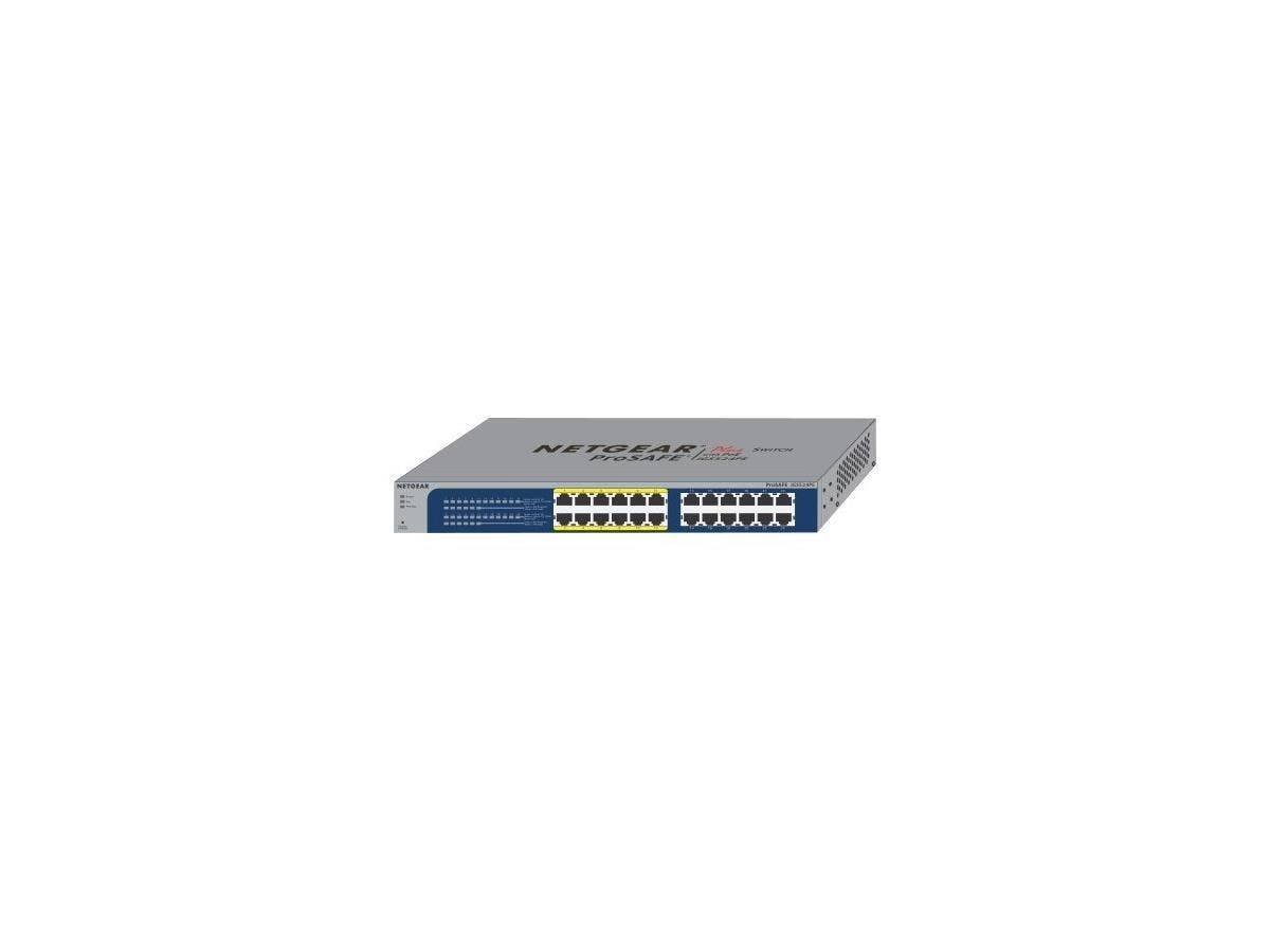 Netgear ProSafe Plus JGS524PE Ethernet Switch - 24 Ports - 10/100/1000Base-T - 2 Layer Supported - DesktopLifetime Limited Warranty-Large-Image-1