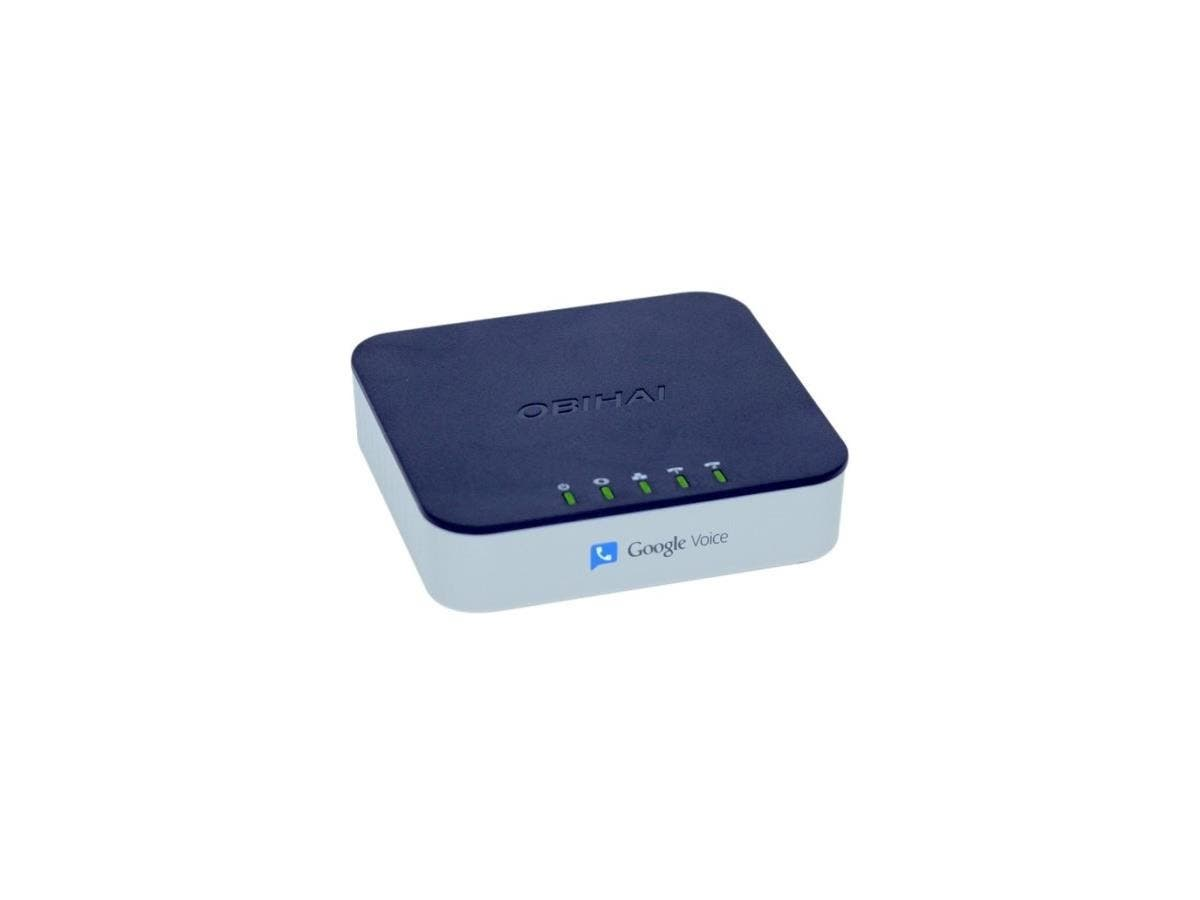 Obihai OBi202 VoIP Telephone Adapter with 2-Phone Ports, Router & USB - 2 x RJ-45 - 2 x FXS - USB - Wall Mountable, Desktop