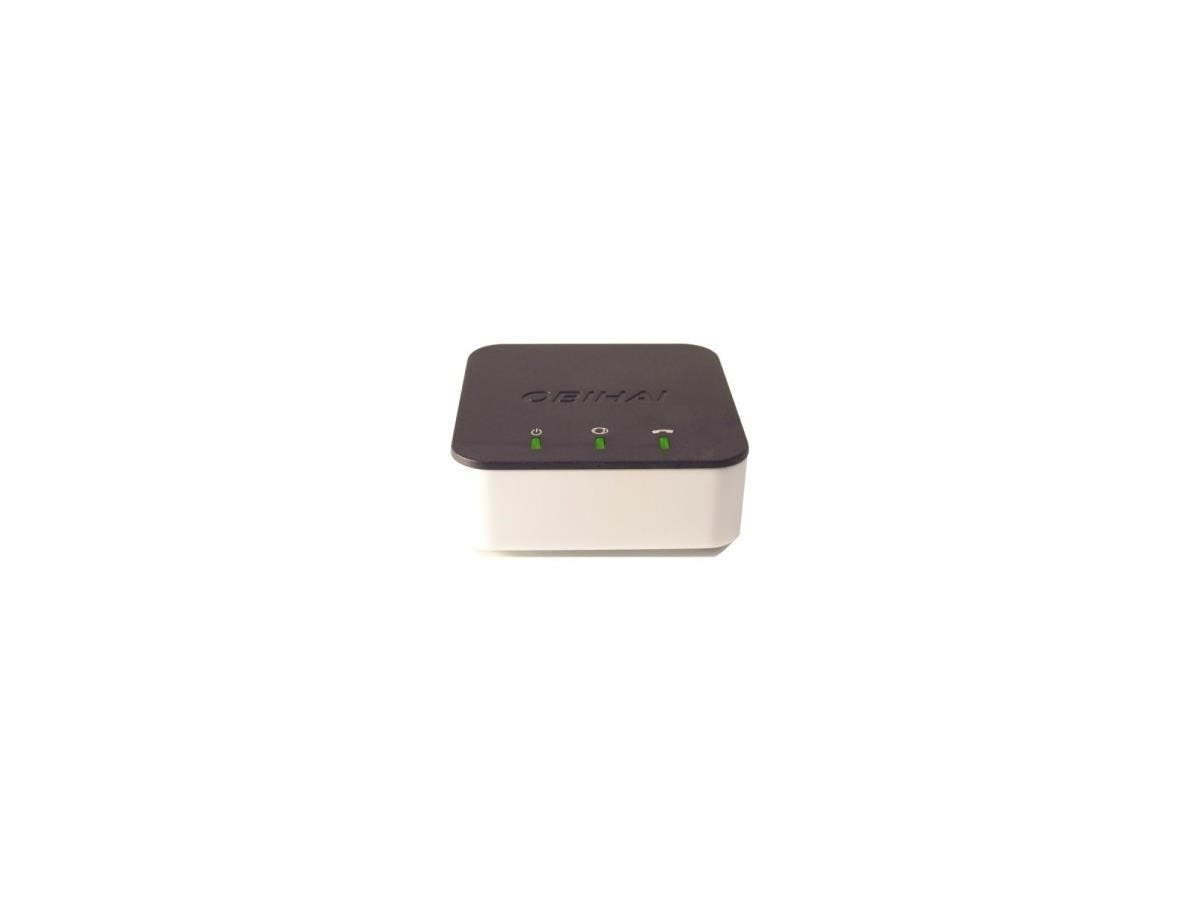 Obihai OBi300 VoIP Telephone Adapter with 1-Phone Port & USB - 1 x RJ-45 - 1 x FXS - USB - Gigabit Ethernet-Large-Image-1