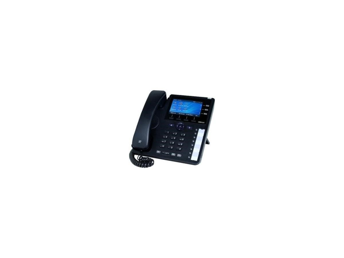 Obihai IP Phone with Power Supply - Up to 12 Lines - Support for Google Voice and SIP-Based Services - 12 x Total Line - VoIP - Caller ID - Speakerphone - 2 x Network (RJ-45) - USB - PoE Ports - Color