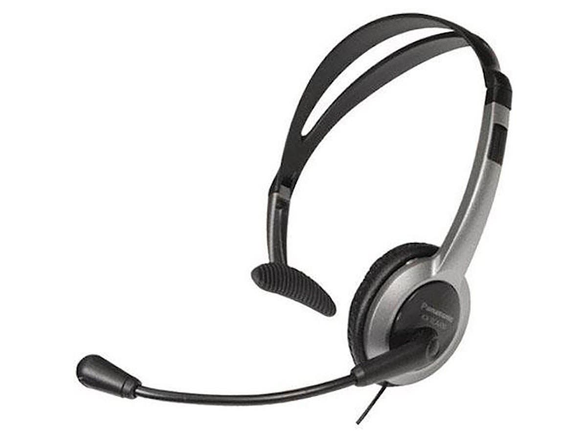 Panasonic KX-TCA430 Headset - Mono - Sub-mini phone - Wired - Over-the-head - Monaural - Semi-open - 4 ft Cable-Large-Image-1