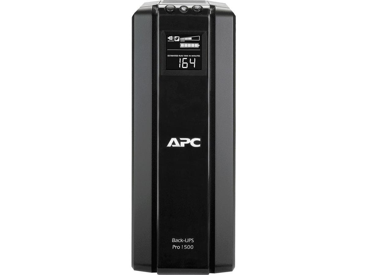 APC Back-UPS BR1500G 1500 VA Tower UPS - 1500 VA/865 W - 120 V AC - 3 Minute - Tower - 3 Minute - 5 x NEMA 5-15R, 5 x NEMA 5-15R-Large-Image-1