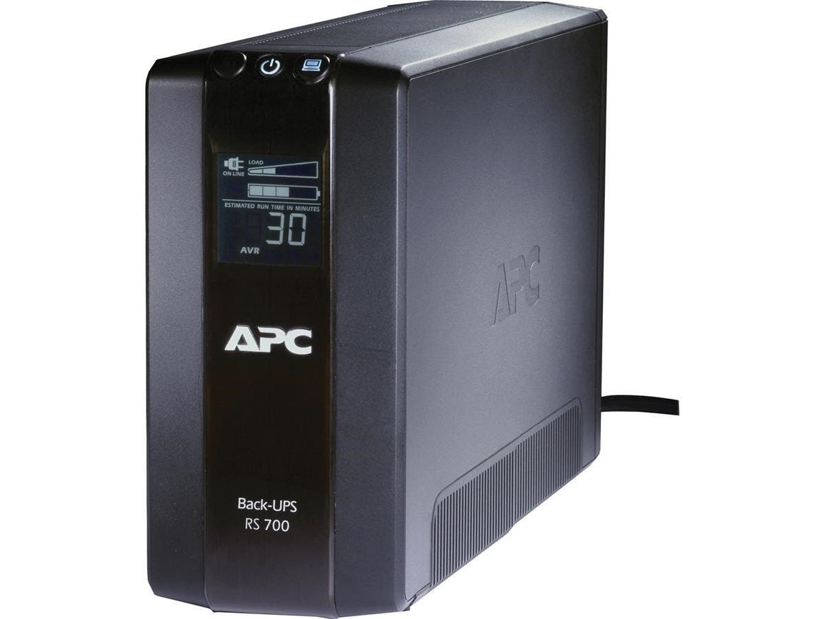 APC Back-UPS RS 700 VA Tower UPS - 700VA/450W - 3 Minute Full Load - 3 x NEMA 5-15R - Battery Backup System, 3 x NEMA 5-15R - Surge-protected-Large-Image-1