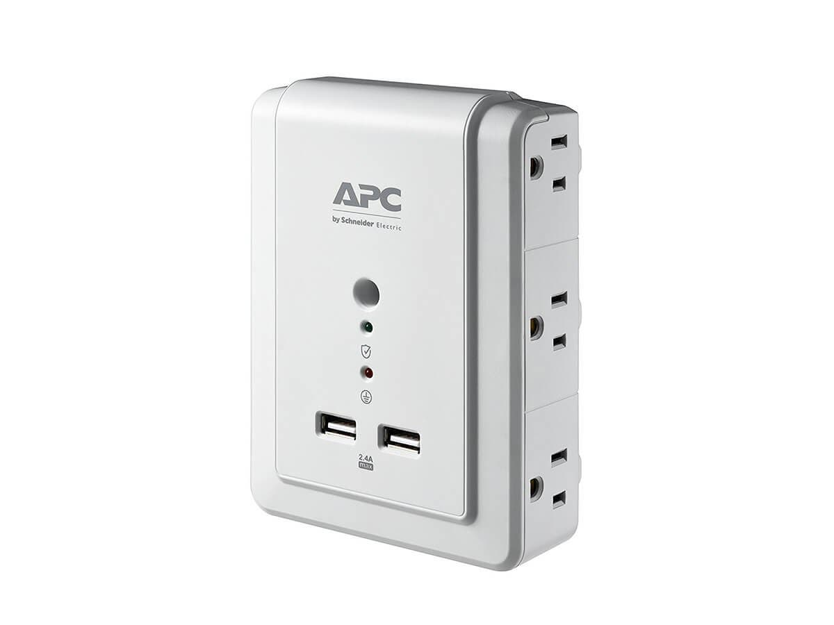 APC 6-Outlet Wall Surge Protector 1080 Joules with USB Charger Ports, SurgeArrest Wall Tap (P6WU2) -Large-Image-1