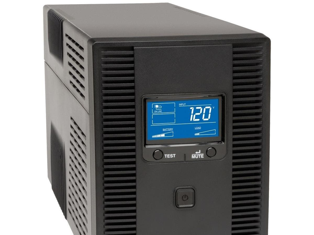 Tripp Lite UPS Smart 1500VA 900W Tower LCD Battery Back Up AVR Coax RJ45 USB - 1.6Minute Full Load - 5 x NEMA 5-15R - Surge-protected, 5 x NEMA 5-15R - UPS-protected-Large-Image-1