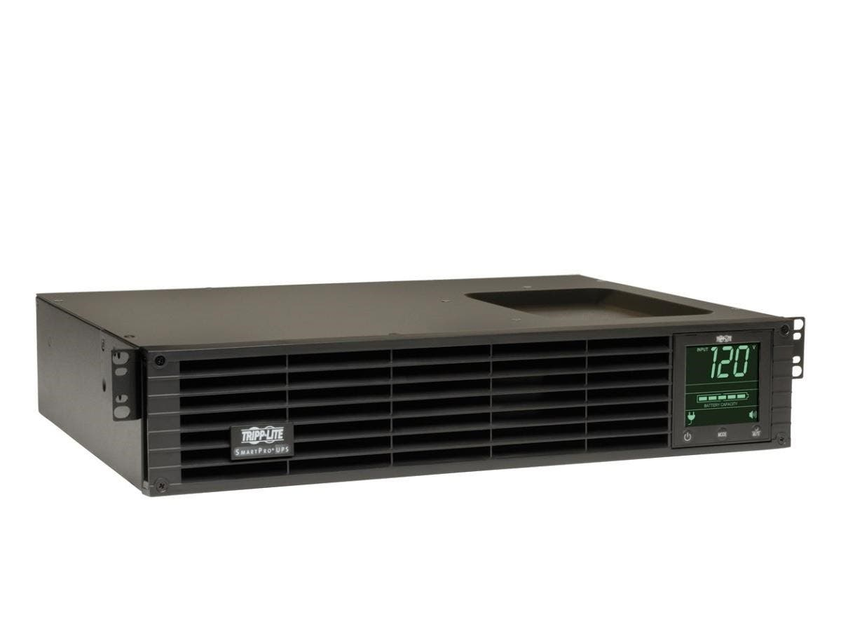 Tripp Lite UPS Smart 1500VA 1350W Rackmount AVR 120V Pure Sine Wave USB DB9 Preinstalled SNMPWEBCARD 2URM - 1500 VA/1350 W - 120 V AC - 4.50 Minute - 2U Tower/Rack Mountable - 4.50 Minute - 8 x NEMA 5-Large-Image-1