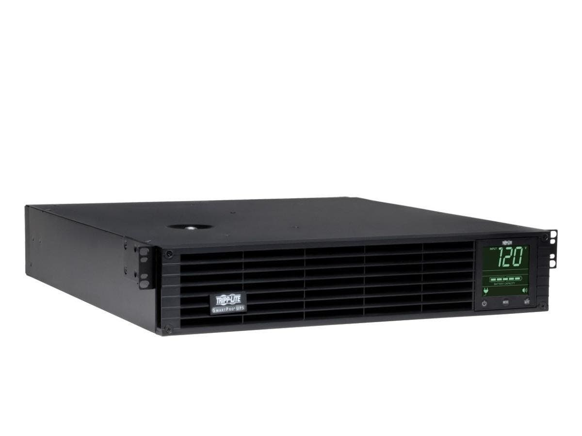 Tripp Lite UPS Smart 2200VA 1920W Rackmount AVR 120V Preinstalled SNMPWEBCARD Pure Sign Wave USB DB9 SNMP 2URM - 2200 VA/1920 W - 120 V AC - 4.50 Minute - 2U Tower/Rack Mountable - 4.50 Minute - 4 x N-Large-Image-1
