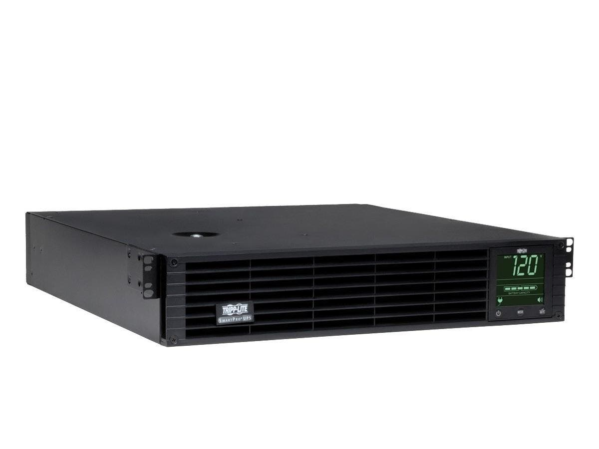 Tripp Lite UPS Smart 3000VA 2250W Rackmount AVR 120V Preinstalled SNMPWEBCARD Pure Sign Wave USB DB9 2URM - 3000 VA/2250 W - 120 V AC - 3.50 Minute - 2U Tower/Rack Mountable - 3.50 Minute - 1 x NEMA L-Large-Image-1
