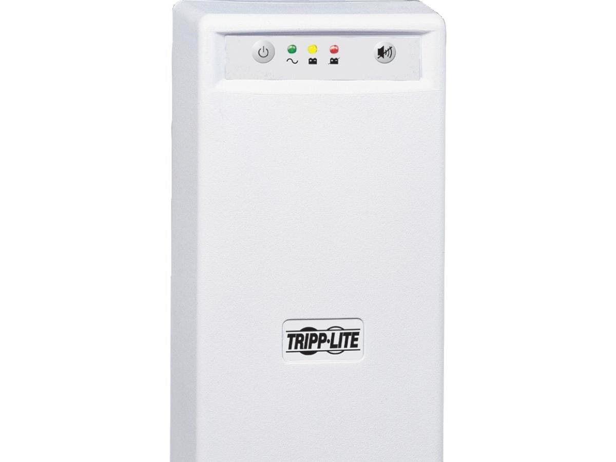 Tripp Lite UPS 700VA 425W Desktop Battery Back Up Tower 120V USB RJ45 PC - 700VA/425W - 5 Minute Full Load - 3 x NEMA 5-15R - Battery/Surge-protected, 3 x NEMA 5-15R - Surge-protected-Large-Image-1