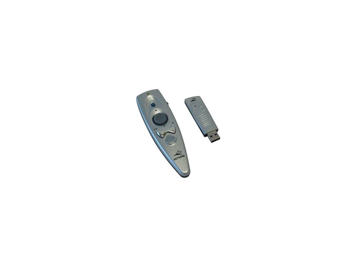 Tripp Lite Keyspan Presentation Wireless Remote Control w/ Laser / Mouse Silver 60ft - 60 ft Range-Large-Image-1