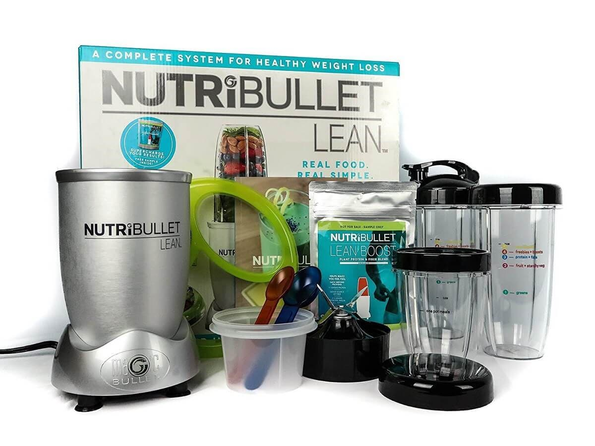 NutriBullet Lean 1200W Hi-Speed Blender/Mixer, 13-Piece Set (Open Box)
