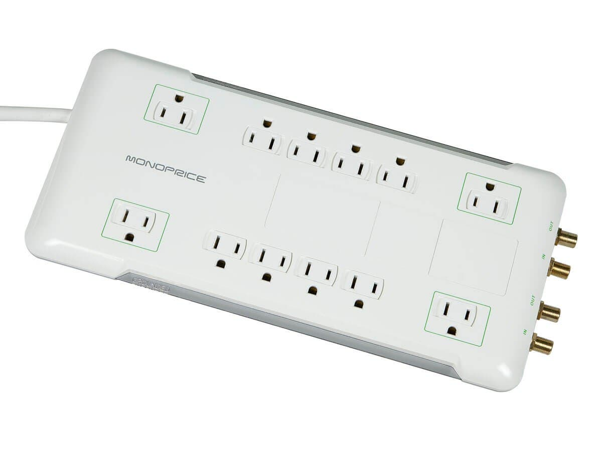 12 Outlet Power Surge Protector with Coax Protection - 3420 Joules (Open Box)