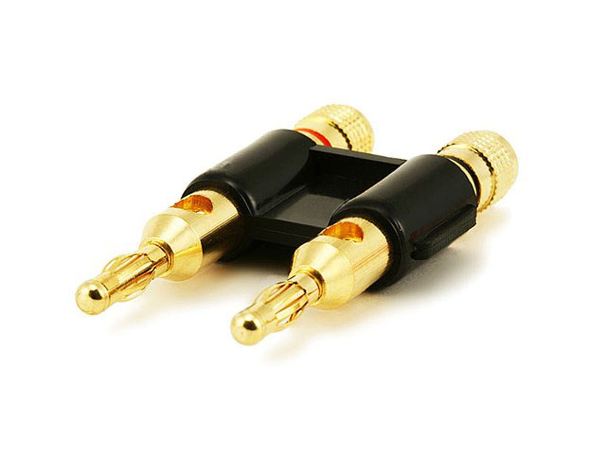 Monoprice Dual High Quality Gold Plated Speaker Banana Plugs Black Wiring A Coaxial Plug Large Image