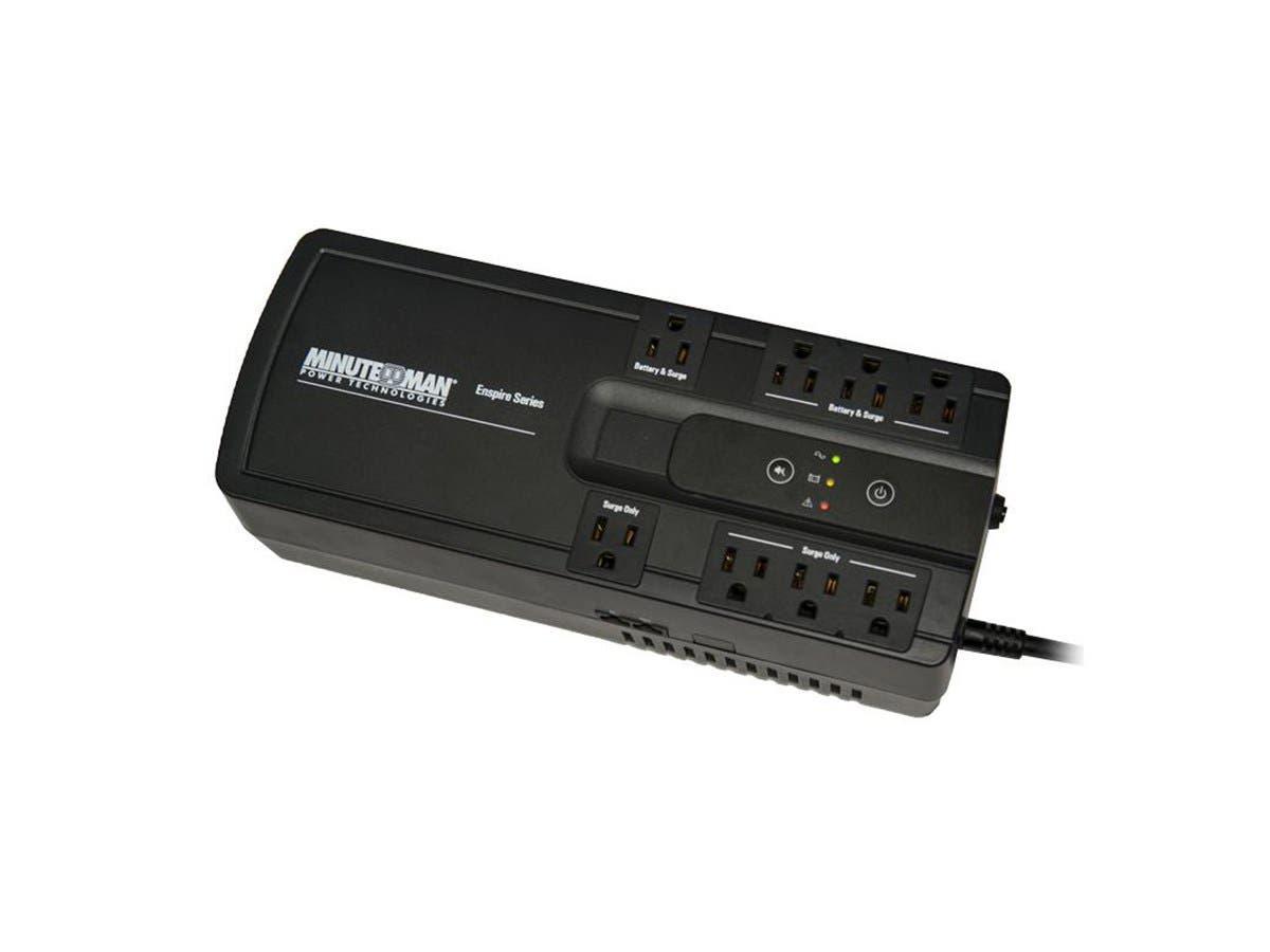 Minuteman EN550 Enspire 8-Outlet Standby UPS, 550VA-Large-Image-1