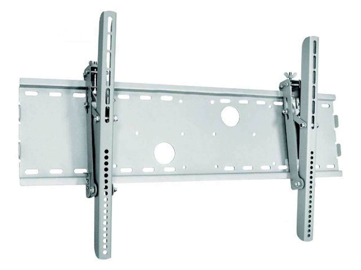 Monoprice Titan Series Tilt TV Wall Mount Bracket, For TVs 37in to 70in, Max Weight 165 lbs, VESA Patterns Up to 850x450, Security Brackets, Works with Concrete & Brick, UL Certified-Large-Image-1