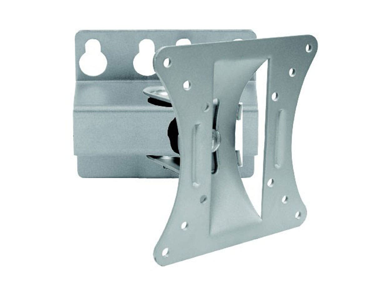 Monoprice Tilt TV Wall Mount Bracket, For TVs 13in to 27in, Max Weight 66lbs, VESA Patterns Up to 100x100, Works with Concrete & Brick-Large-Image-1