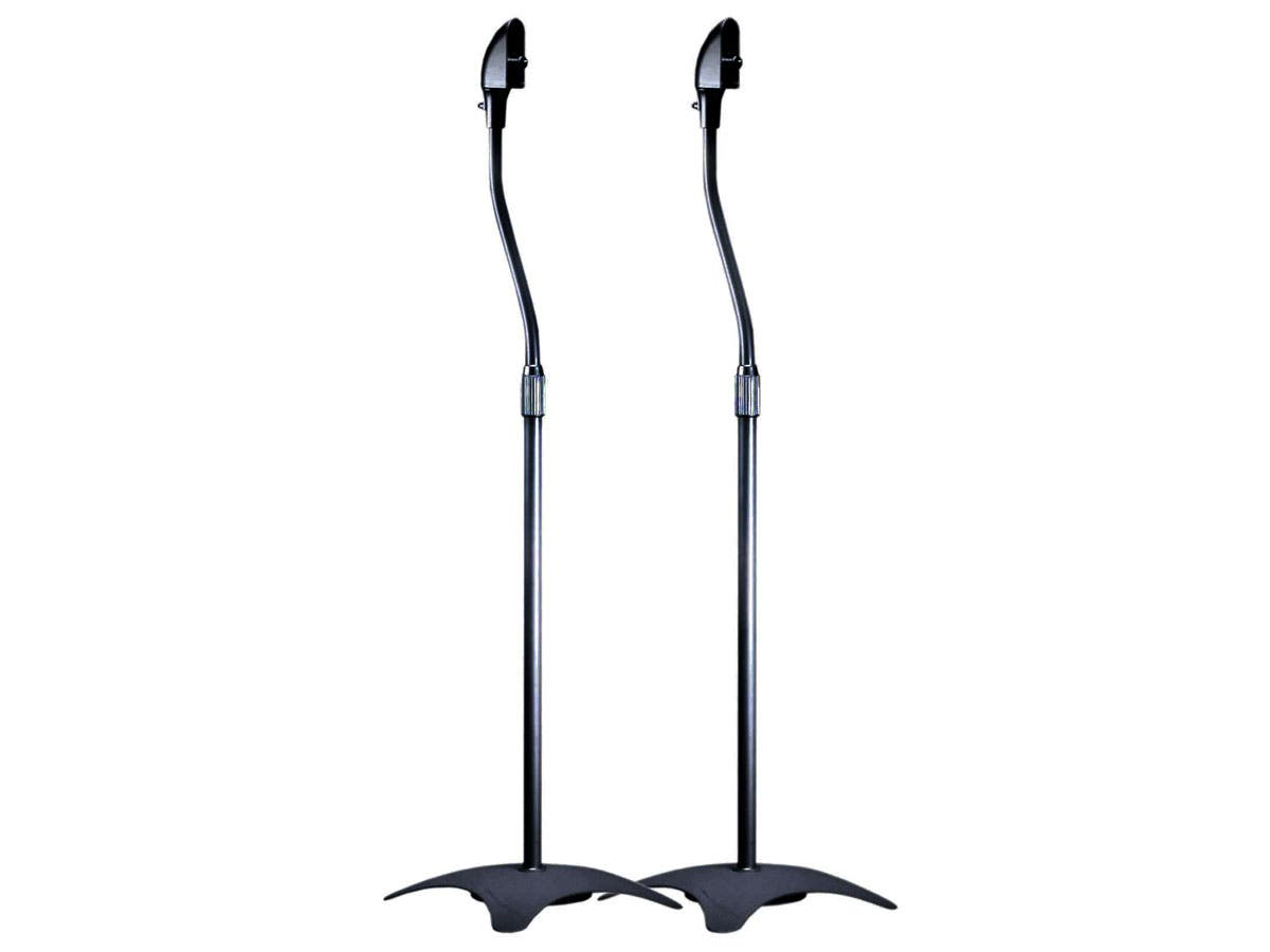 Adjustable Height 5 lb. Capacity Speaker Stands (Pair), Black-Large-Image-1