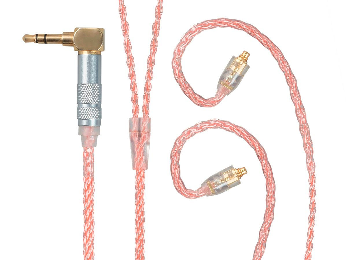 Monolith by Monoprice Oxygen Free Copper Braided Headphone Cable with MMCX Connectors-Large-Image-1