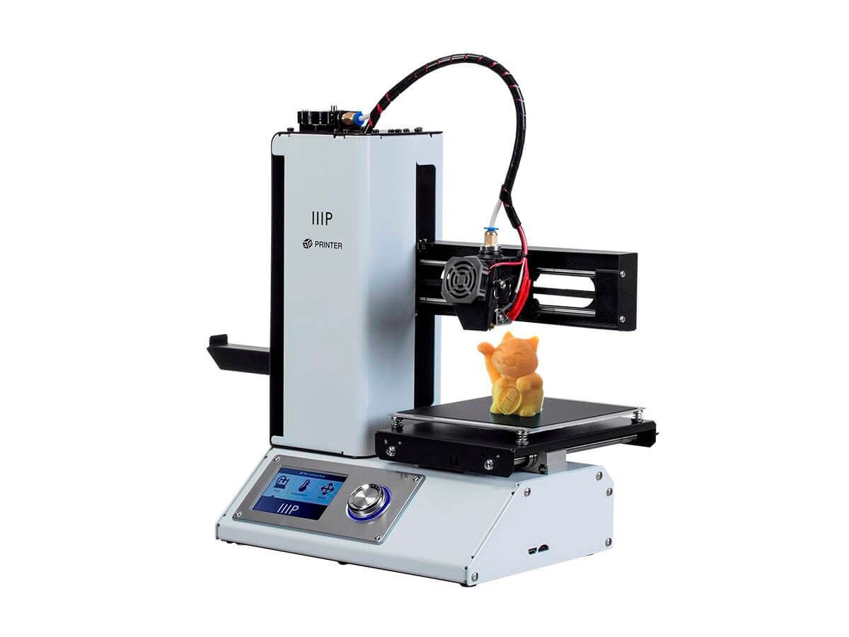 Monoprice MP Select Mini 3D Printer V2 White (Open Box)-Large-Image-1