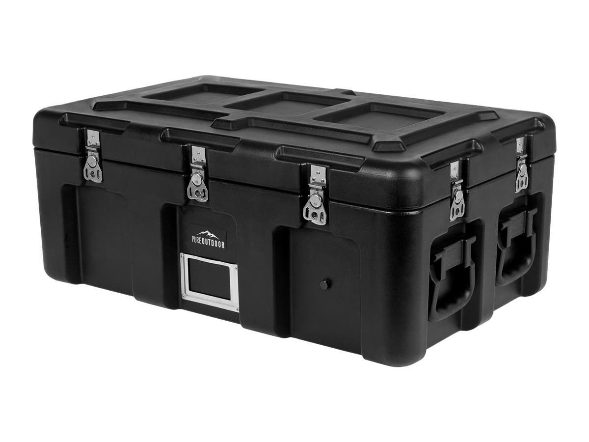 Pure Outdoor by Monoprice Stackable Rotomolded Weatherproof Case, 32 x 18 x 13 inches, Black-Large-Image-1