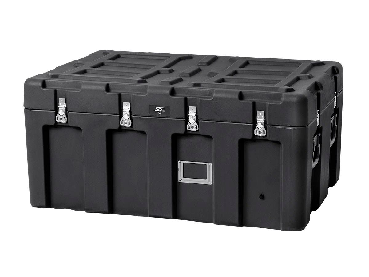 Pure Outdoor by Monoprice Stackable Rotomolded Weatherproof Case, 44 x 28 x 21 inches, Black-Large-Image-1