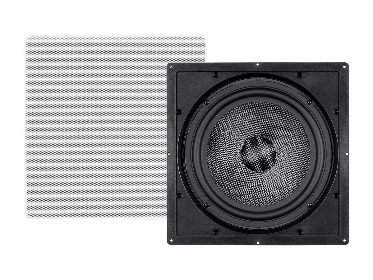 Monoprice Alpha In-Wall Speaker 10in Carbon Fiber 300W Subwoofer (each)-Large-Image-1