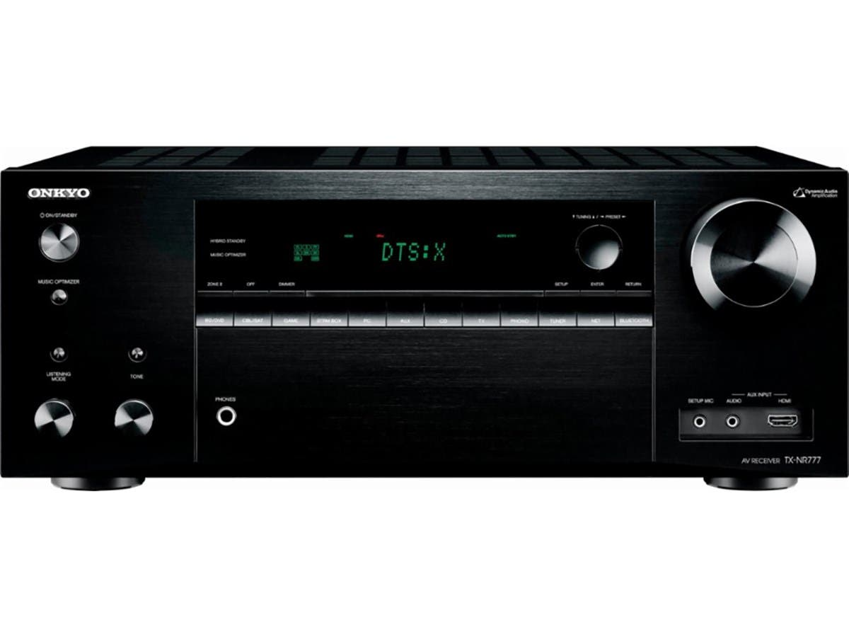 Onkyo TX-NR777 7.2-Ch. THX Select Dolby Atmos & DTS:X 4K Ultra HD and 3D Pass-Through Network A/V Home Theater Receiver