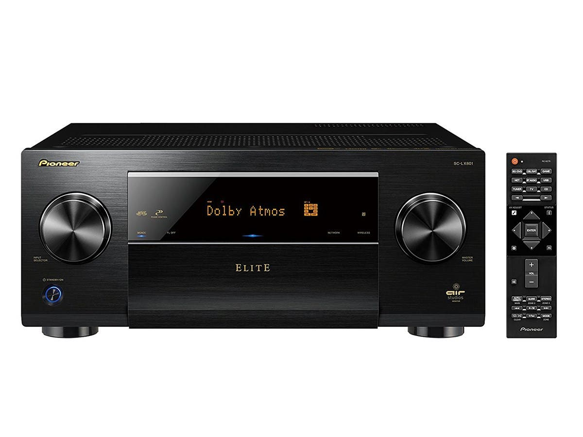 Pioneer Elite SC-LX801 9.2-Ch. Dolby Atmos & DTS:X 4K Ultra HD 3D Pass thru Network A/V Home Theater Receiver - Black-Large-Image-1