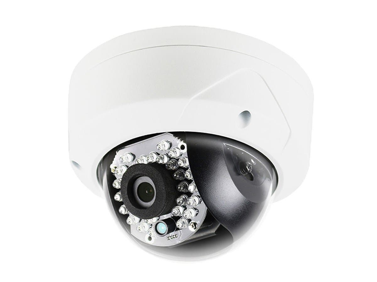Monoprice 4.1MP Dome IP Security Camera, 2688x1520P@20fps, 2.8mm Fixed Lens, True WDR 120dB, PoE, Vandalproof, IP66-Large-Image-1