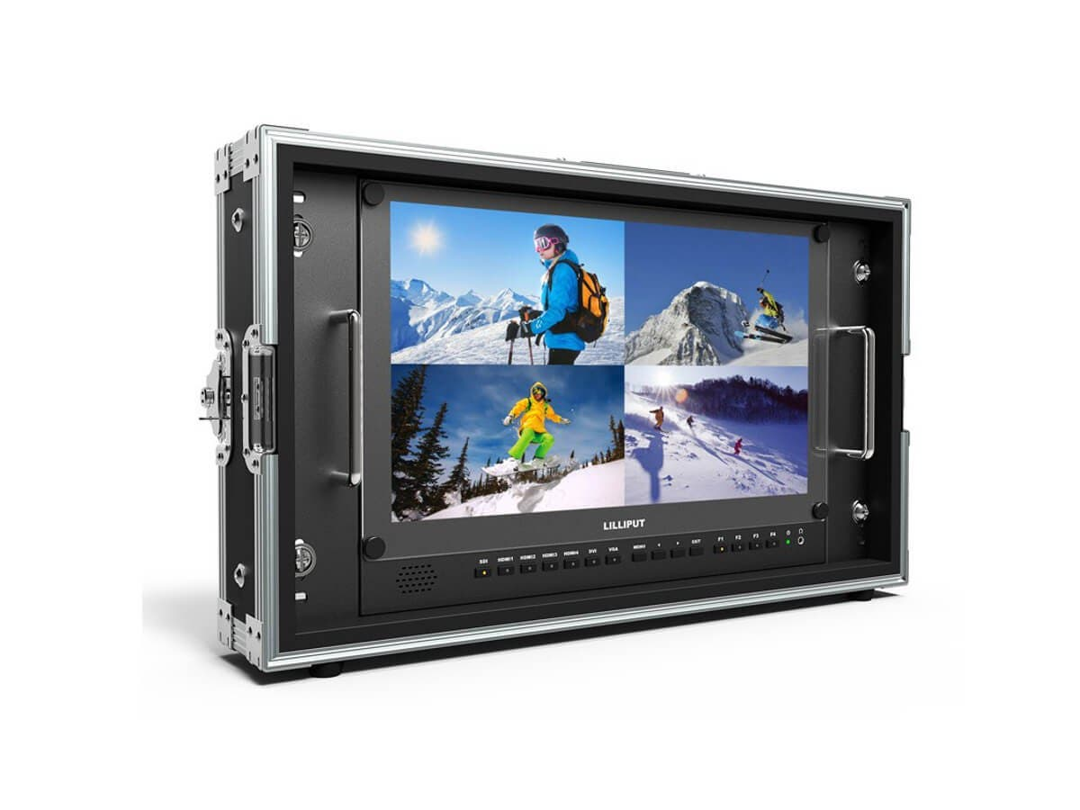 Lilliput 15.6in Carry-On and Rackable 4K Broadcast Director Monitor with SDI, HDMI, VGA & DVI Inputs-Large-Image-1
