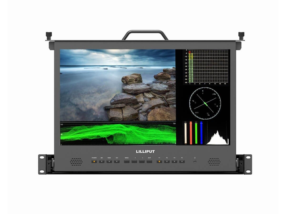 Lilliput 17.3in Full HD Pull-Out Rack Monitor with Waveform Vector-Large-Image-1